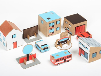paper town toys from RK Design // love this colorway, too!