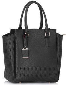 Zwarte tas voor dames van PU Leer.