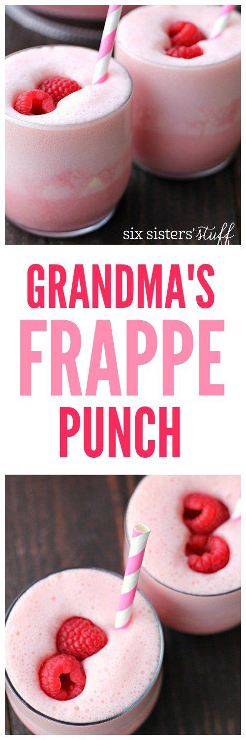 Grandma's Frappe Punch is a tradition in our family for every holiday! SixSistersStuff.com