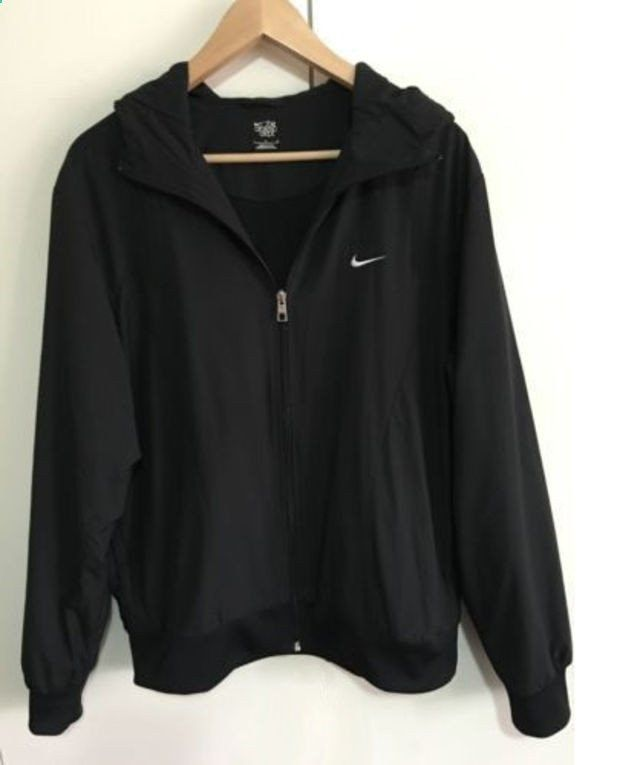 NIKE Women Hooded Sweatshirt Cardigan Jacket Coat