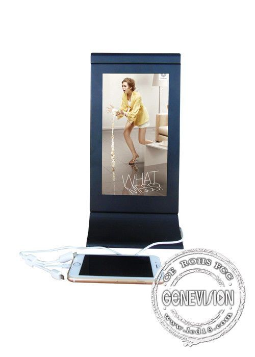 Cell Phone Charging Station Kiosk  Restaurant Lcd Advertising Player display digital signage mobile charging station