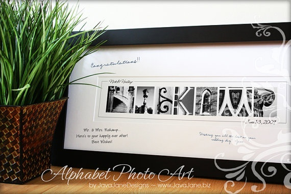 Guest Book Signature Frame with Name Art