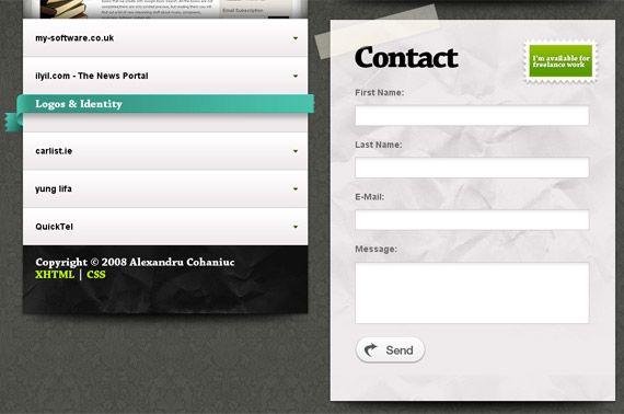 25 best images about best contact us pages on pinterest - Formulaire de contact ...