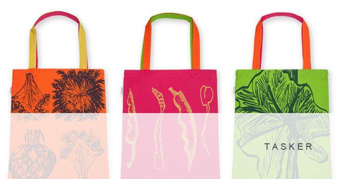 Tasker i 3 designs. Flere farver. http://shop.kurage.dk/tasker.html