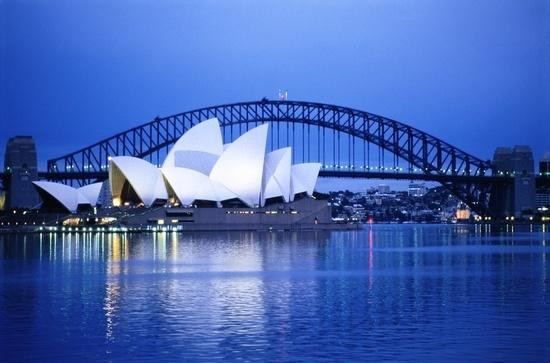 Harbor and opera house, Sydney, New South Wales, Australia.