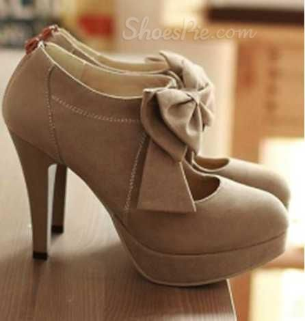 Shoespie Bowtie Stiletto Heel Ankle Boots