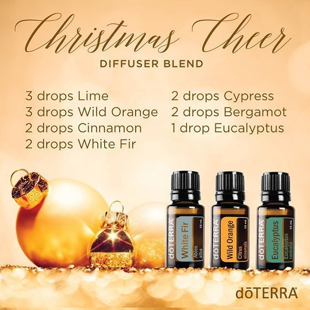 Company coming? The best way to spread Christmas Cheer is by diffusing doTERRA for all who are dear.