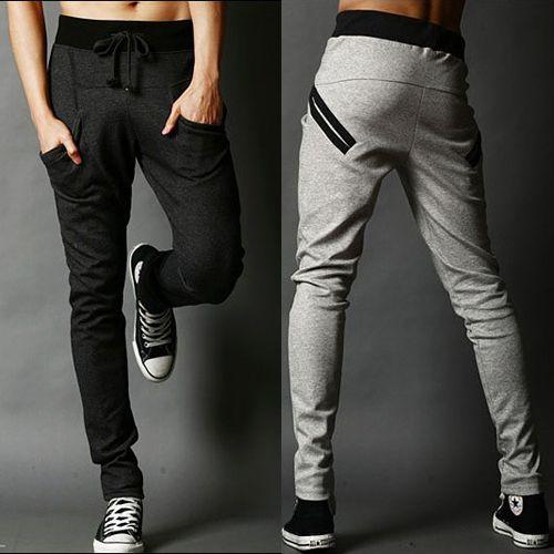 Pantalones harén pantalones casuales color block ropa masculina pantalones 2013 de los hombres de los pantalones flacos de los pantalones masculinos de la salud slim en Pantalones de Moda y Complementos en AliExpress.com | Alibaba Group