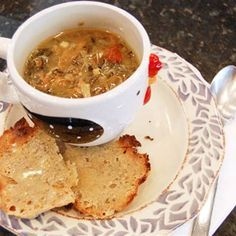A hearty and delicious soup, made with a leftover duck carcass (or other poultry), fresh vegetables, wild rice and mushrooms and flavored with smoked ham, sherry and curry powder. Just in time for the holidays!