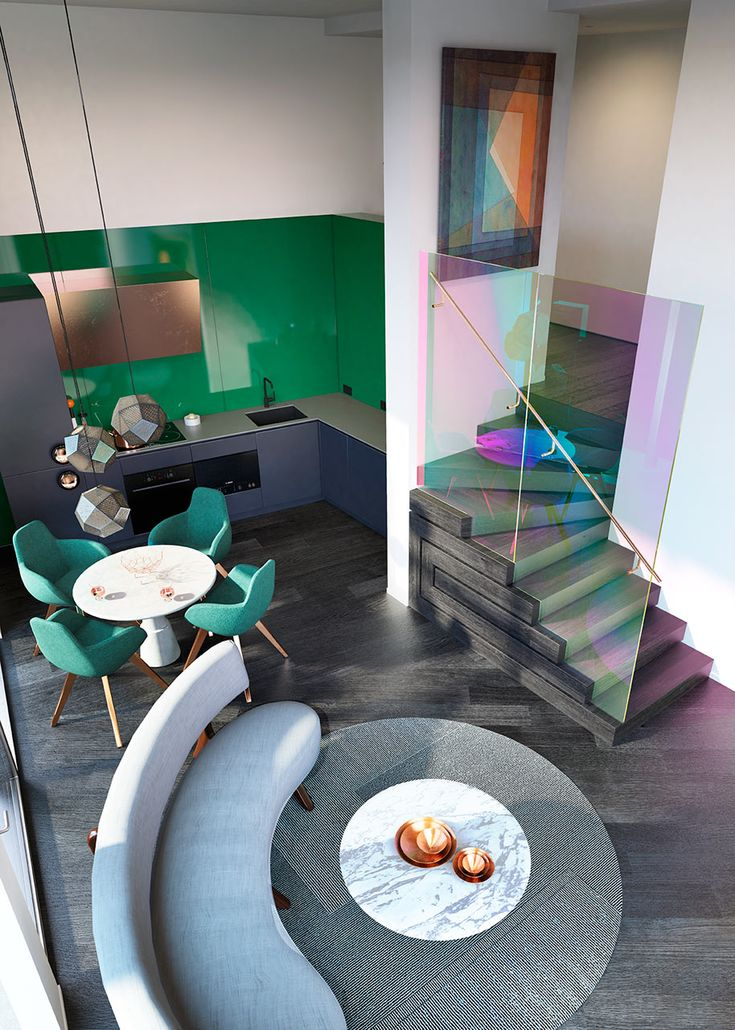 Super glamorous apartment designed by Tom Dixon. See more at Lights Online Blog!