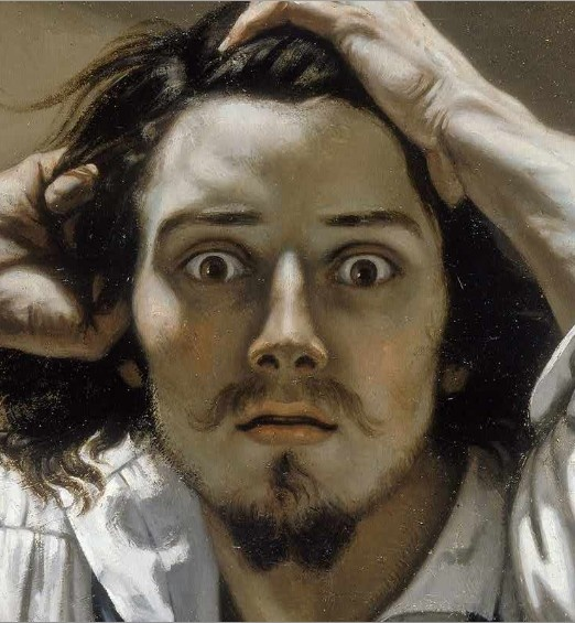 Self-Portrait.  Jean Désiré Gustave Courbet (10 June 1819 – 31 December 1877) was a French painter who led the Realist movement in 19th-century French painting. The Realist movement bridged the Romantic movement (characterized by the paintings of Théodore Géricault and Eugène Delacroix) with the Barbizon School and the Impressionists. Courbet occupies an important place in 19th century French painting as an innovator and as an artist willing to make bold social commentary in his work.