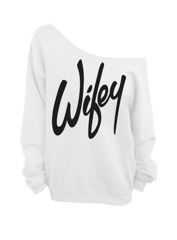 Wifey - White Slouchy Oversized Sweatshirt for Bride