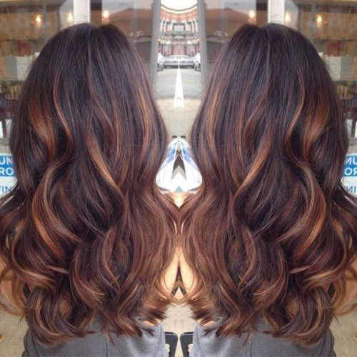 Dark Hair with Blonde and Caramel Highlights Dark Hair with Blonde ...
