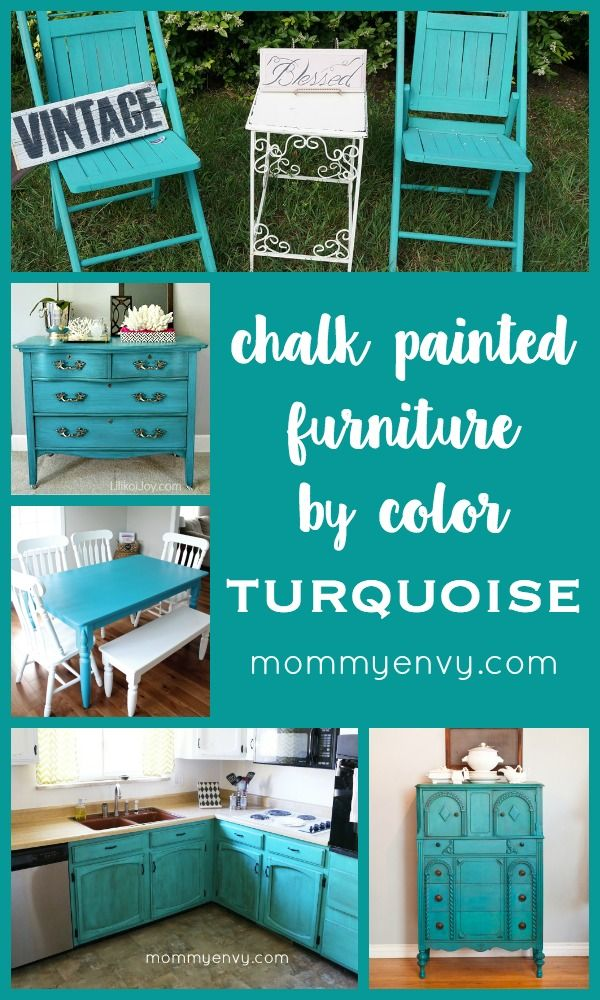 Turquoise Chalk Painted Furniture Colors Chalk Painted
