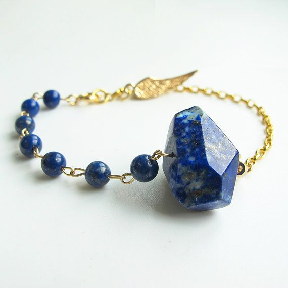 Natural blue lapis lazuli bracelet, 24 K gold plated chain and wing charm, candy color gemstone dainty bracelet, wholesale available #christmas #xmas #halloween #highquality #affordable #freeshipping #bead #beads #gem #gems #gemstone #gemstones #jewelry #jewellery #jewelrymaking #jewelrysupplies #jewelrysupply #etsy #farragem #design #designer #handcrafted #handmade #ring #necklace #earrings #bracelet #pendant