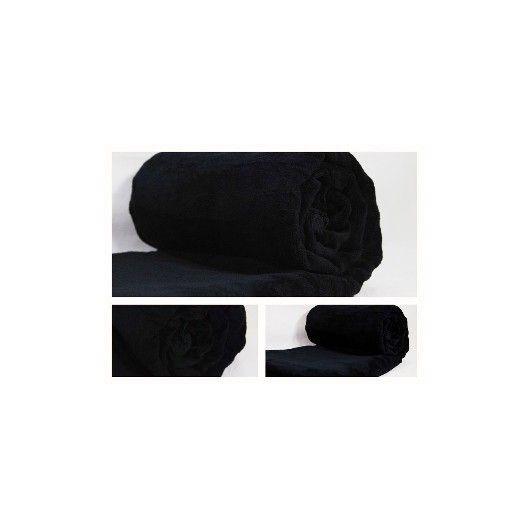Luxusní a moderní deka na postel černé barvy - dumdekorace.cz