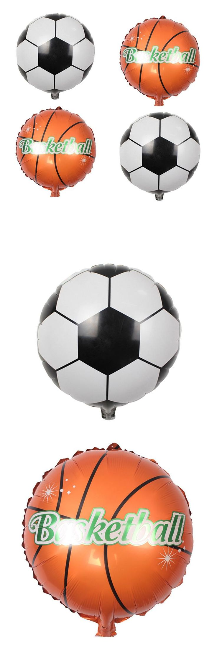 [Visit to Buy] Football Basketball Foil Balloons inflatable helium balloon Children Classic Toys happy birthday Party Decoration air balloons #Advertisement