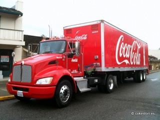 Coca-Cola hybrid truck in Los Altos California