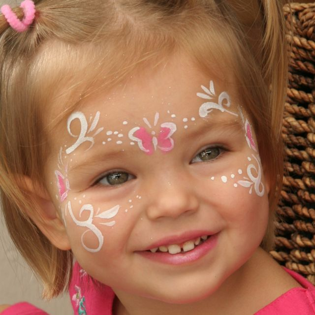 Simple Face Painting Examples | Wouldn't it be great to be more creative and find exciting new ways ...