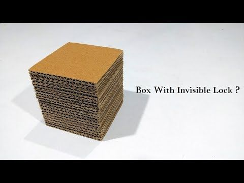 How to Make Puzzle Box With Ice Cream/Popsicle Stick Diy (Secret