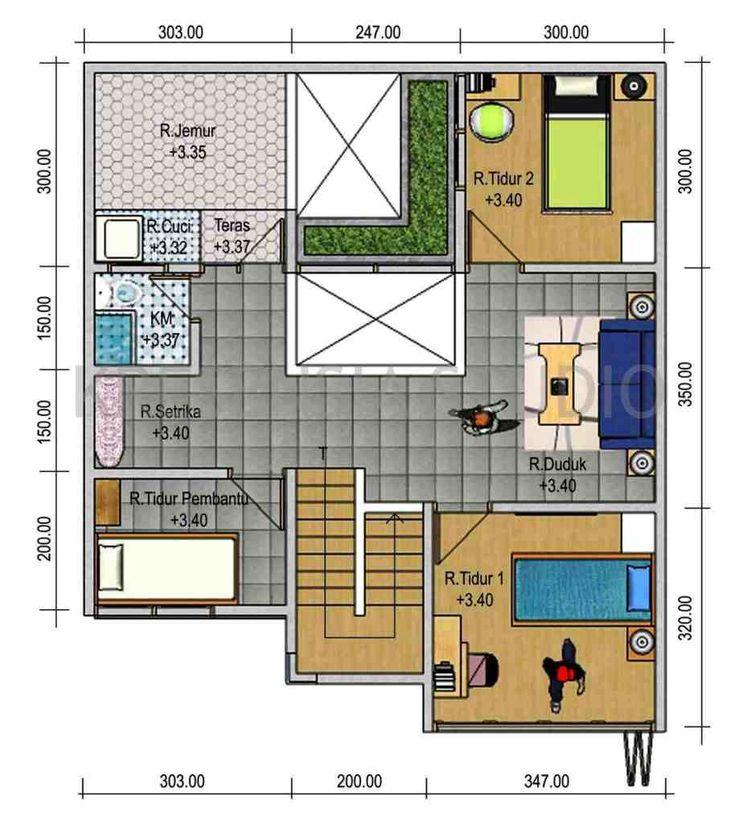 http://inrumahminimalis.com - Denah Rumah Sederhana 3 Kamar Tidur
