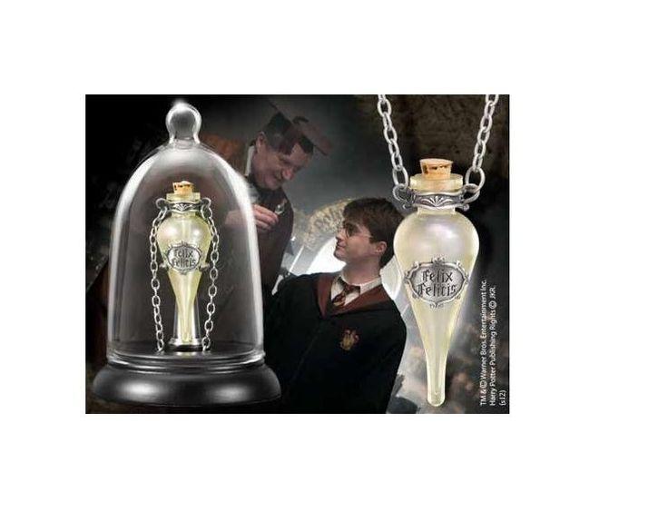 Harry Potter Anhänger mit Kette und Schmuckvitrine Felix Felicis