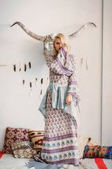 SPELL DESIGNS BOHEMIAN ROYALE EMPRESS DRESS - DUSK from naked labels
