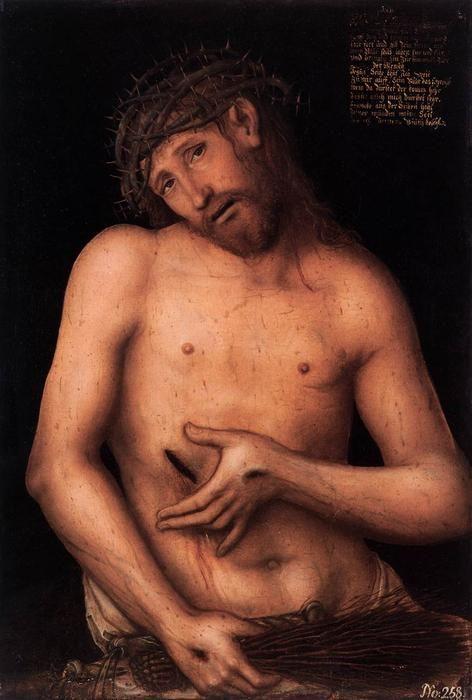 Christ comme l homme de douleurs de Lucas Cranach The Younger (1515-1586, Germany)