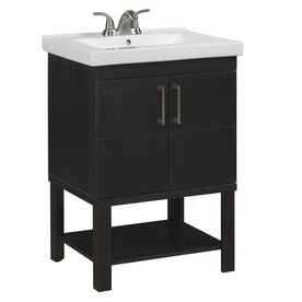 For My Small Master Bath Allen Roth 24 Rustic Oak Foley Bath Vanity With Top For The Home