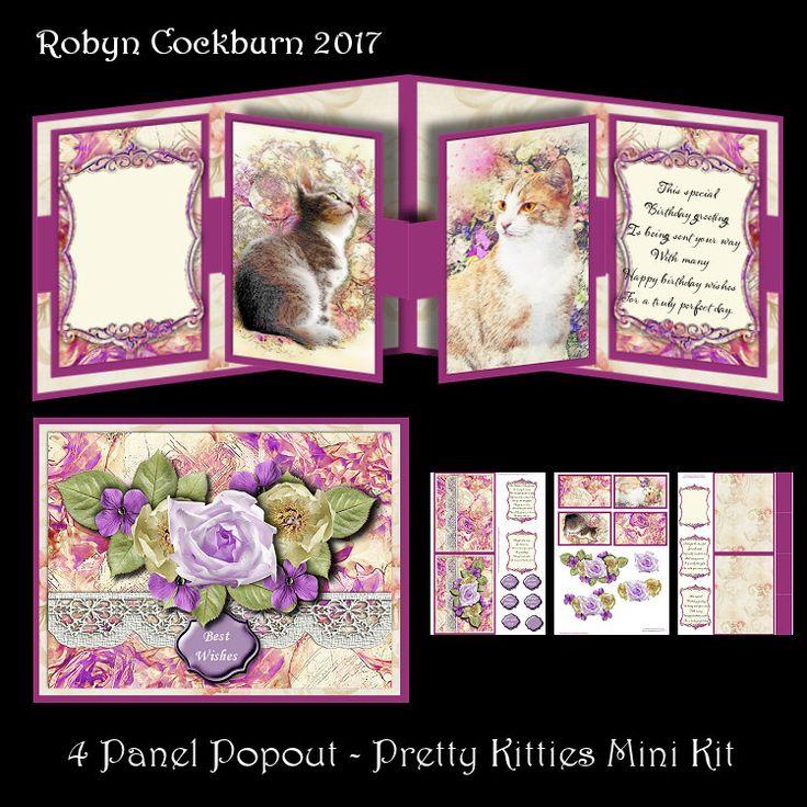 4 Panel Popout - Pretty Kitties Mini Kit