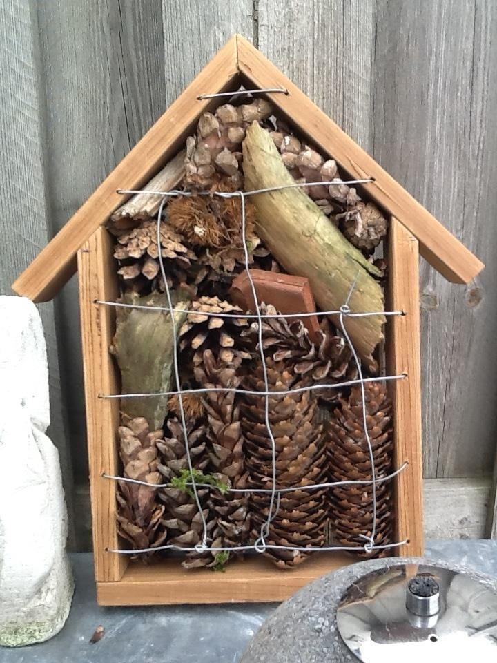 Herfst is leuk kids vinden van alles in het bos en vervolgens een insectenhotel gemaakt