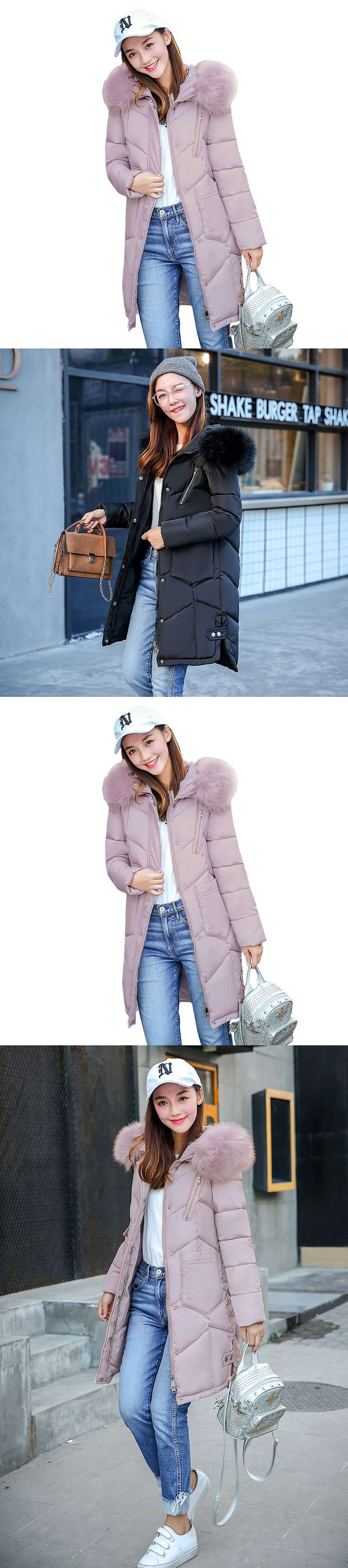 Coats and Jackets 63862: New Women Winter Coat Down Jacket Ladies Fur Hooded Jackets Long Puffer Parka -> BUY IT NOW ONLY: $32.88 on eBay!