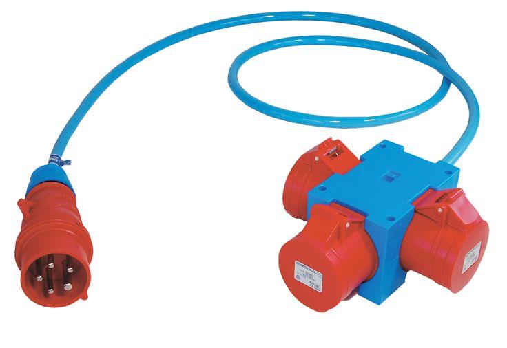 CEE verdeler 3-voudig met ELPUR kabel