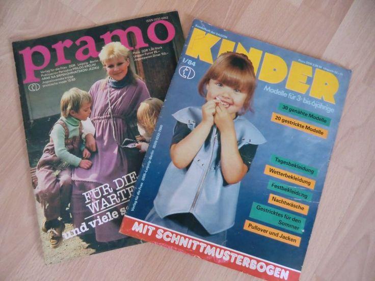 2 Modezeitschriften, DDR, Pramo und Kinder