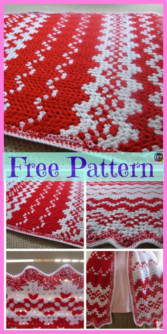 8 Crochet Christmas Blankets Free Patterns Crochet Pinterest