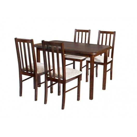 Stół + 4 krzesła Znakomitej jakości zestaw dla 4 osób.  #stol #krzesla #salon #jadalnia