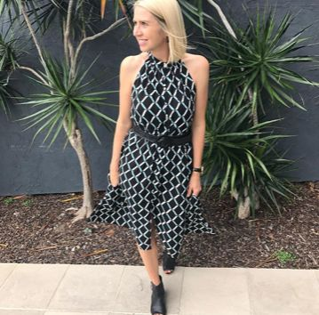 @alikaystyle.com.au wears the McKenzie dress in diamond black. Your new favorite summer style!