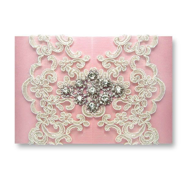 Diamond Dior - Pink wedding invitations