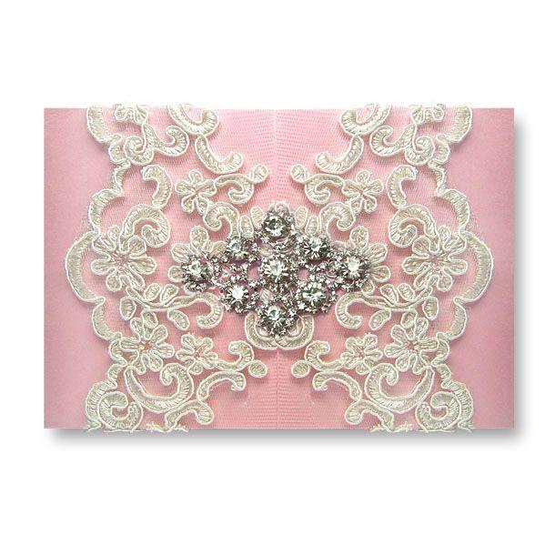 Diamond Dior - Pink wedding invitations