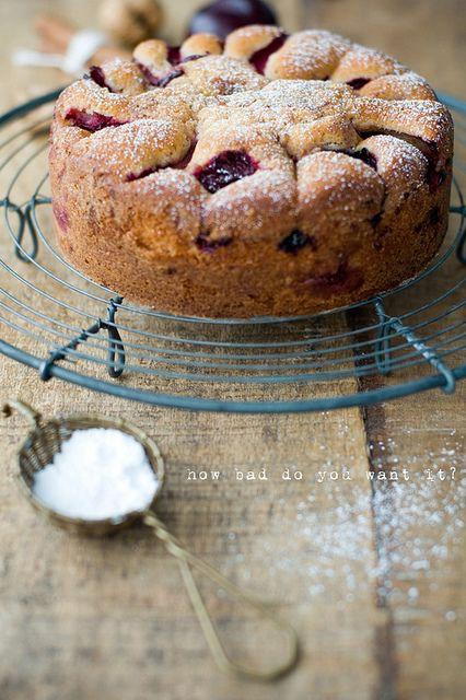 Plum Crumble Cake by decor8