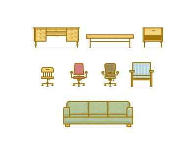 Dribbble - PD Furniture Icons by Ryan Putnam