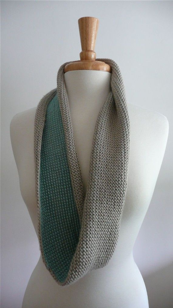 infinity scarf - tunisian crochet (2 color)