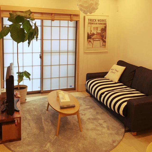 四畳半レイアウト実例 家具の配置と気になる収納術 和室 インテリア 一人暮らし 和モダン インテリア 一人暮らし インテリア