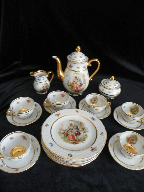 Vintage Bavarian Tea and Dessert Set
