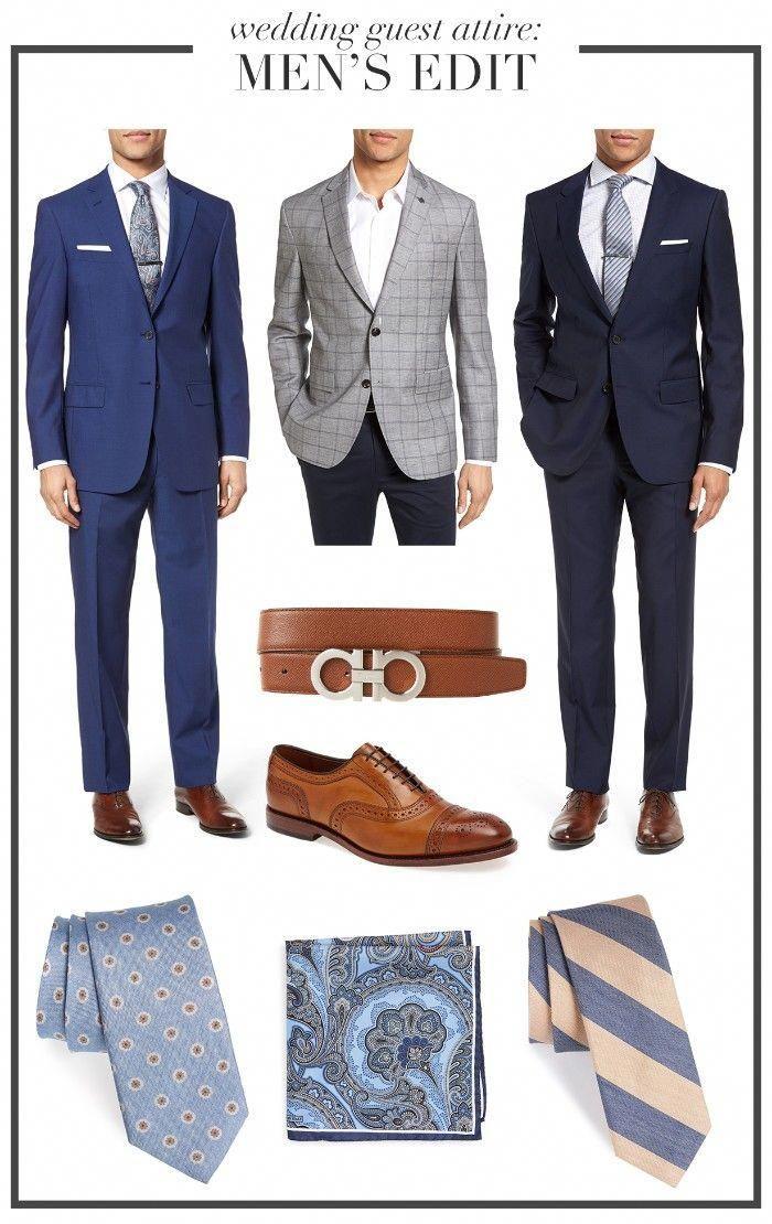 Black Tie Optional Wedding Three Ideas For A Smart Outfit For Men Blue Suit With A White Shirt Che Wedding Suits Men Black Cocktail Attire Men Blue Suit Men