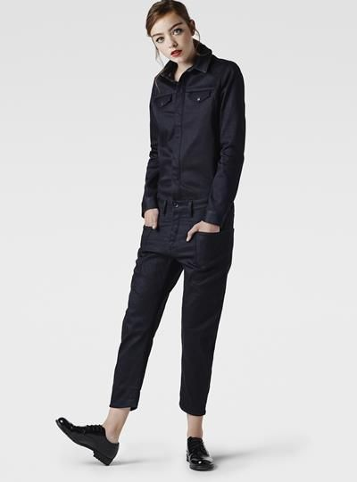 RAW FOR THE OCEANS - A-CROTCH DENIM JUMPSUIT