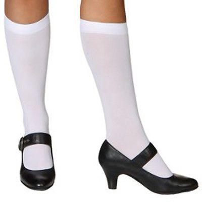 Weiße Damen Kniestrümpfe Dirndl Accessoires Knie Strümpfe Damenstrümpfe