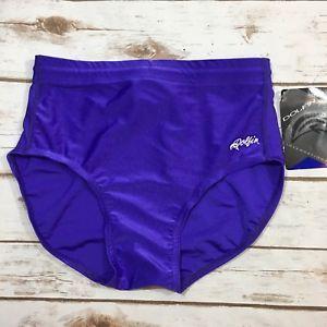 NWT Vintage 90s Dolfin Purple High Waist Bikini Swimsuit Bottom Womens Large NEW  | eBay