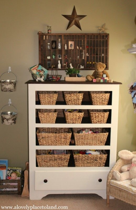 A $9.50 Thrifted Chest Is Transformed Into A Pretty Place To Store Toys In  The Living Part 88