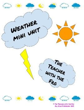 Use this weather mini unit to discuss the water cycle and storms with your students! File includes-A water cycle song-Tornado fact sheet-Hurricane fact sheet-Severe weather book-Venn diagram to compare and contrast tornadoes and hurricanesCan be used for evidence based answers or a short assessment.